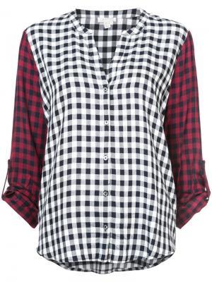 Рубашка в клетку Joie. Цвет: многоцветный