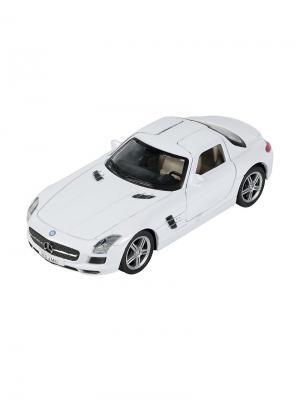 Машинка Инерционная Mercedes-Benz SLS AMG, Белая (1:41-1:32) (PS-0616307-W) Pit Stop. Цвет: белый