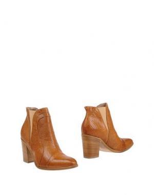 Полусапоги и высокие ботинки DONNA PIÙ. Цвет: верблюжий