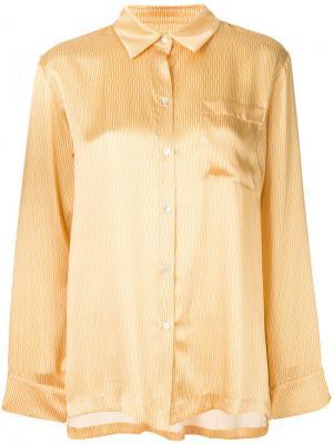 Пижамный топ с карманом Asceno. Цвет: жёлтый и оранжевый