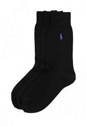 Комплект носков 3 пары Polo Ralph Lauren. Цвет: черный