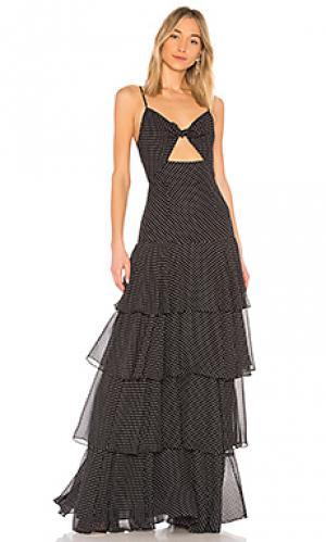 Платье в горошек JILL STUART. Цвет: черный