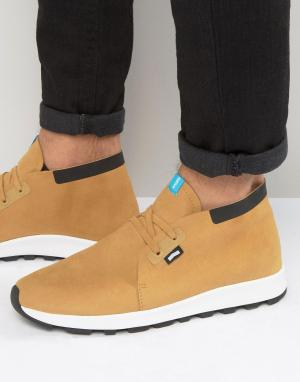 Native Кроссовки в стиле ботинок чукка. Цвет: рыжий
