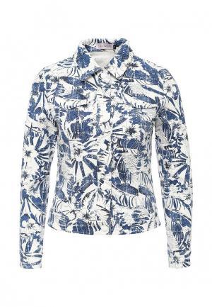 Куртка джинсовая Lamania. Цвет: разноцветный