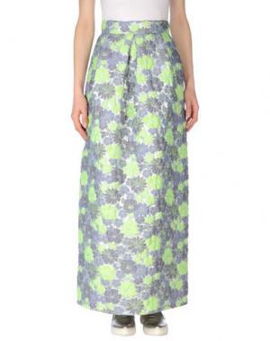 Длинная юбка PAOLA FRANI. Цвет: сиреневый