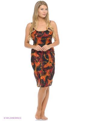 Ночная сорочка Del Fiore. Цвет: черный, оранжевый