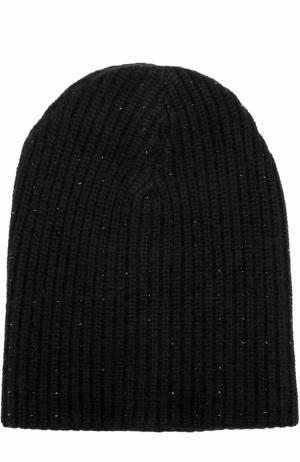 Кашемировая вязаная шапка с отделкой из страз Swarovski William Sharp. Цвет: черный