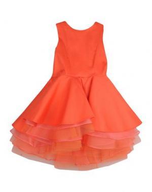 Платье LILI GAUFRETTE. Цвет: коралловый