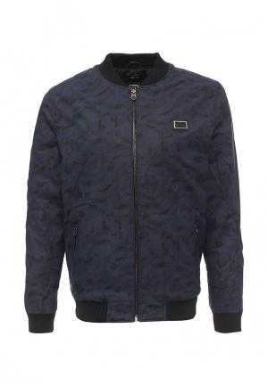 Куртка кожаная Born Rich. Цвет: синий
