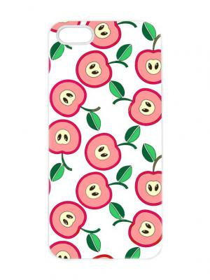 Чехол для iPhone 5/5s Принт с яблоками Chocopony. Цвет: белый, черный