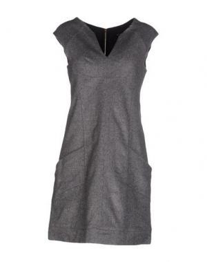 Короткое платье AXARA PARIS. Цвет: серый
