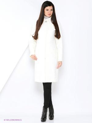 Пальто КАЛIНКА. Цвет: белый