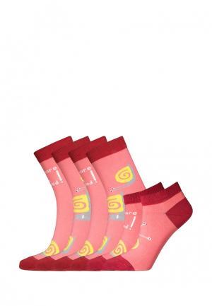 Комплект bb socks. Цвет: розовый