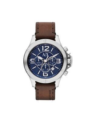 Часы Armani Exchange. Цвет: коричневый, серебристый, синий