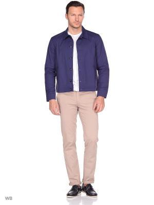 Куртка хлопковая Пряник. Цвет: темно-синий