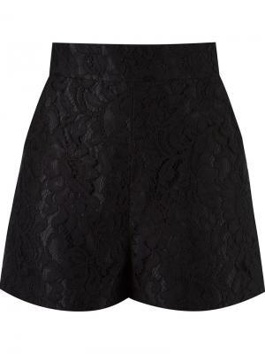 Кружевные шорты с завышенной талией Martha Medeiros. Цвет: чёрный