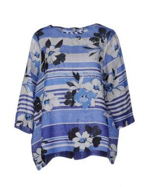Блузка LA FABBRICA del LINO. Цвет: синий