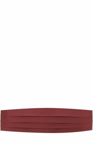 Шелковый камербанд Brioni. Цвет: бордовый