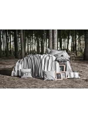 Комплект постельного белья BURTON Серый, пестротканый, 145ТС, 100% хлопок, евро ISSIMO Home. Цвет: серый