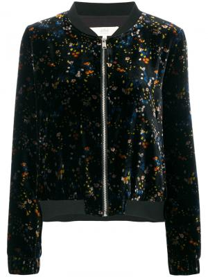 Куртка-бомбер с вышивкой Vanessa Bruno Athé. Цвет: чёрный