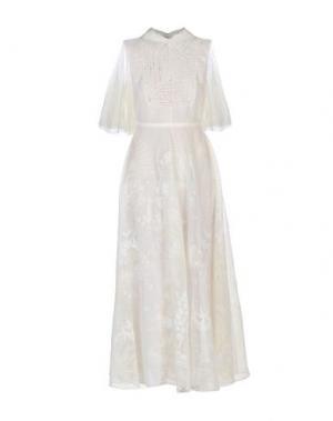 Длинное платье VALENTINO. Цвет: слоновая кость