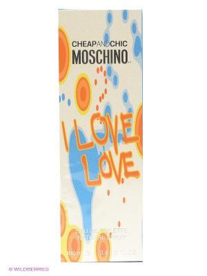 Moschino I Love Ж Товар Туалетная вода спрей 100 мл. Цвет: белый, голубой