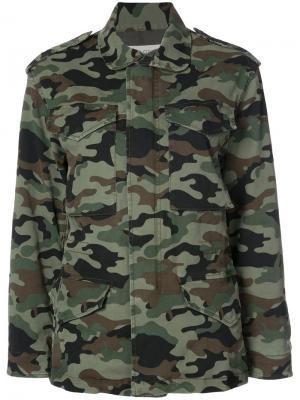 Камуфляжная куртка карго Nili Lotan. Цвет: зелёный