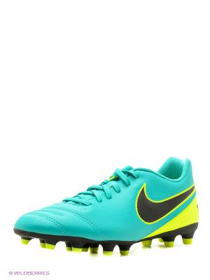 Бутсы TIEMPO RIO III FG Nike. Цвет: бирюзовый