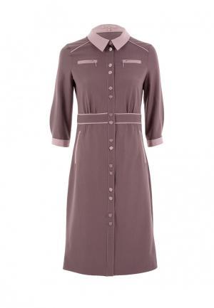 Платье LO. Цвет: коричневый