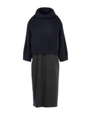 Длинное платье BRUNELLO CUCINELLI. Цвет: темно-синий