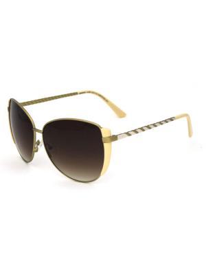 Cолнцезащитные очки Exenza. Цвет: коричневый, бежевый, золотистый