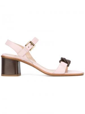 Sandals with chain detailing Fratelli Rossetti. Цвет: розовый и фиолетовый
