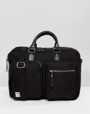Sandqvist Черная сумка для ноутбука Arne Cordura. Цвет: черный