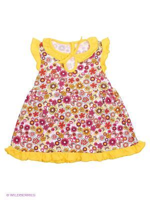Платье Апрель. Цвет: желтый, красный, розовый