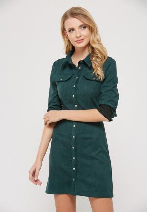 Платье Verna Sebe. Цвет: зеленый