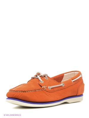 Мокасины TIMBERLAND. Цвет: оранжевый