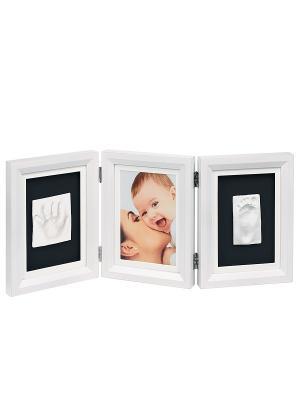 Рамочка тройная Baby Art. Цвет: белый