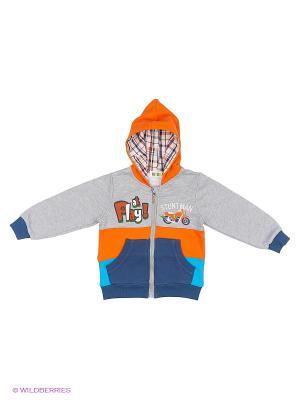 Толстовка Kidly. Цвет: серый, оранжевый