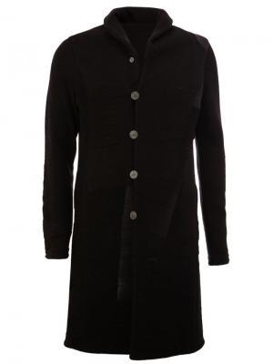 Однобортное пальто Label Under Construction. Цвет: чёрный