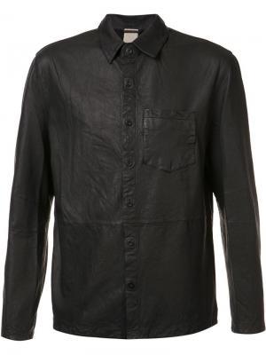 Кожаная рубашка Alan Baldwin. Цвет: чёрный