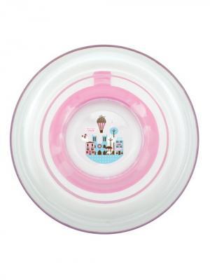 Тарелка Любимая от 6 мес. с присоской LUBBY. Цвет: белый, розовый