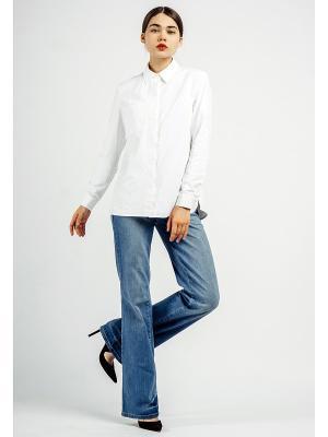 Блузка BURLO. Цвет: белый