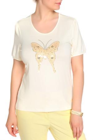Блуза LOLA PALTINGER. Цвет: бежевый