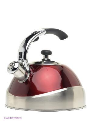 Чайник Bekker. Цвет: бордовый, серебристый