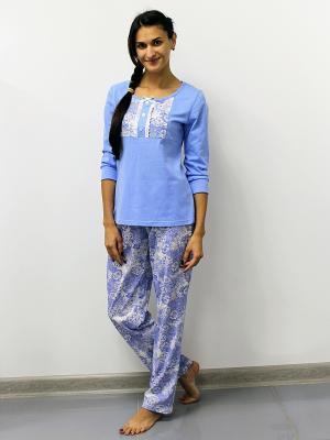 Пижама Pastilla. Цвет: белый, голубой