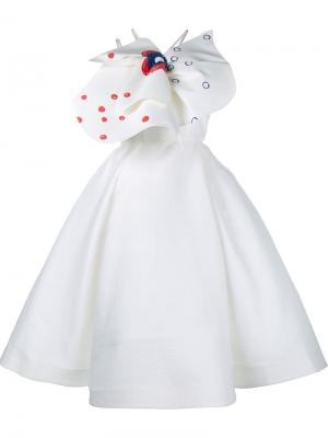 Платье с объемным бантом Vika Gazinskaya. Цвет: многоцветный