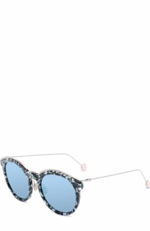 Солнцезащитные очки Dior. Цвет: черно-белый