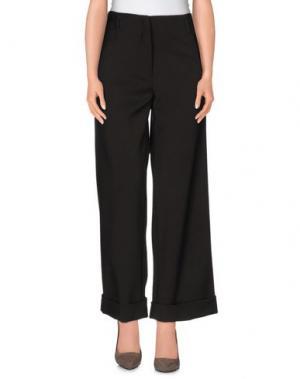 Повседневные брюки N_8. Цвет: темно-коричневый