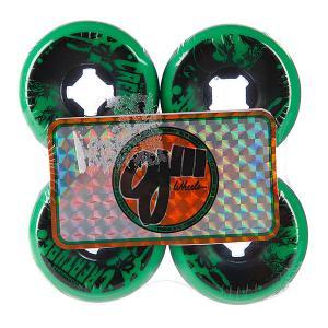 Колеса для скейтборда лонгборда  Iii Bloodsuckers Green Black 97a 56 mm Oj