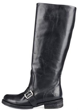 Кожаные сапоги на плоской подошве Felmini. Цвет: черный